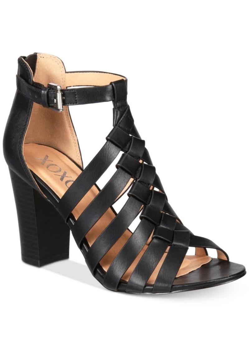 1dd4dbef74c XOXO Xoxo Baxter Strappy Block-Heel Sandals Women s Shoes