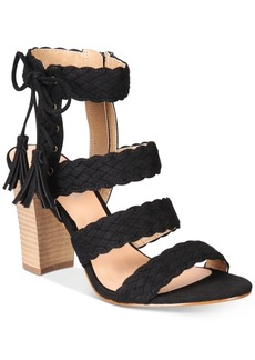 Xoxo Binnie Strappy Block-Heel Sandals Women's Shoes