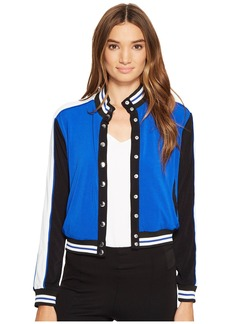 XOXO Button Up Bomber Jacket w/ Rib
