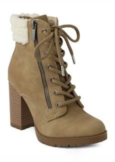 Xoxo Jeanna Lace up Booties Women's Shoes