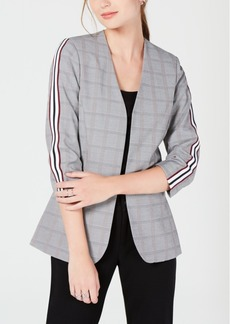 Xoxo Juniors' 3/4-Sleeve Tuxedo-Stripe Jacket