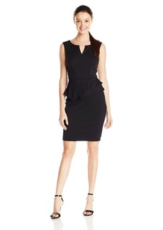 XOXO Junior's Asymmetrical Peplum Sheath Dress