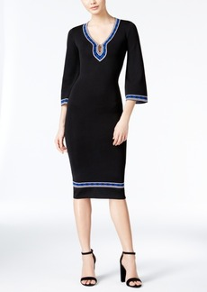 Xoxo Juniors' Bell-Sleeve Midi Sweater Dress