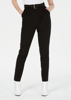 Xoxo Juniors' Belted Pleated Trousers