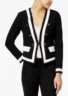Xoxo Juniors' Button-Trim Contrast Blazer