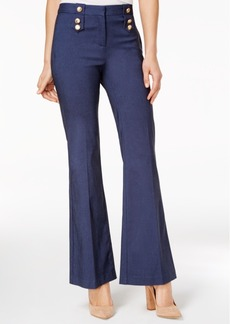 Xoxo Juniors' Button-Trim Flare-Leg Trousers