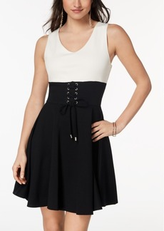 Xoxo Juniors' Corset Fit & Flare Dress