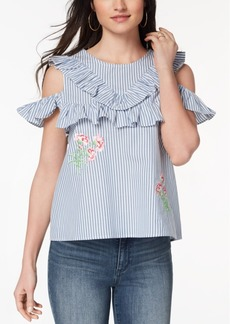 Xoxo Juniors' Cotton Cold-Shoulder Top