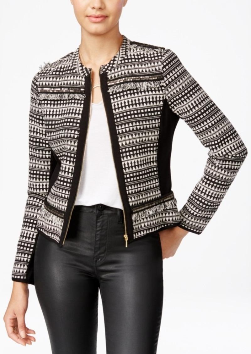 Xoxo Juniors' Cropped Embellished Jacket