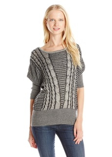 XOXO Junior's Dolman Sleeve Pullover Cable Sweater
