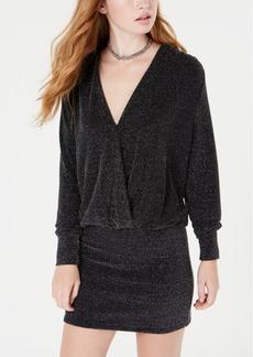Xoxo Juniors' Draped Glitter-Knit Dress