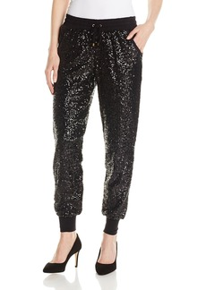 XOXO Juniors Easy Ribbed Sequin Track Pant