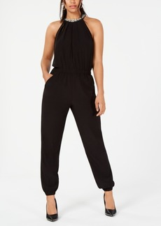 Xoxo Juniors' Embellished Ruched Jumpsuit