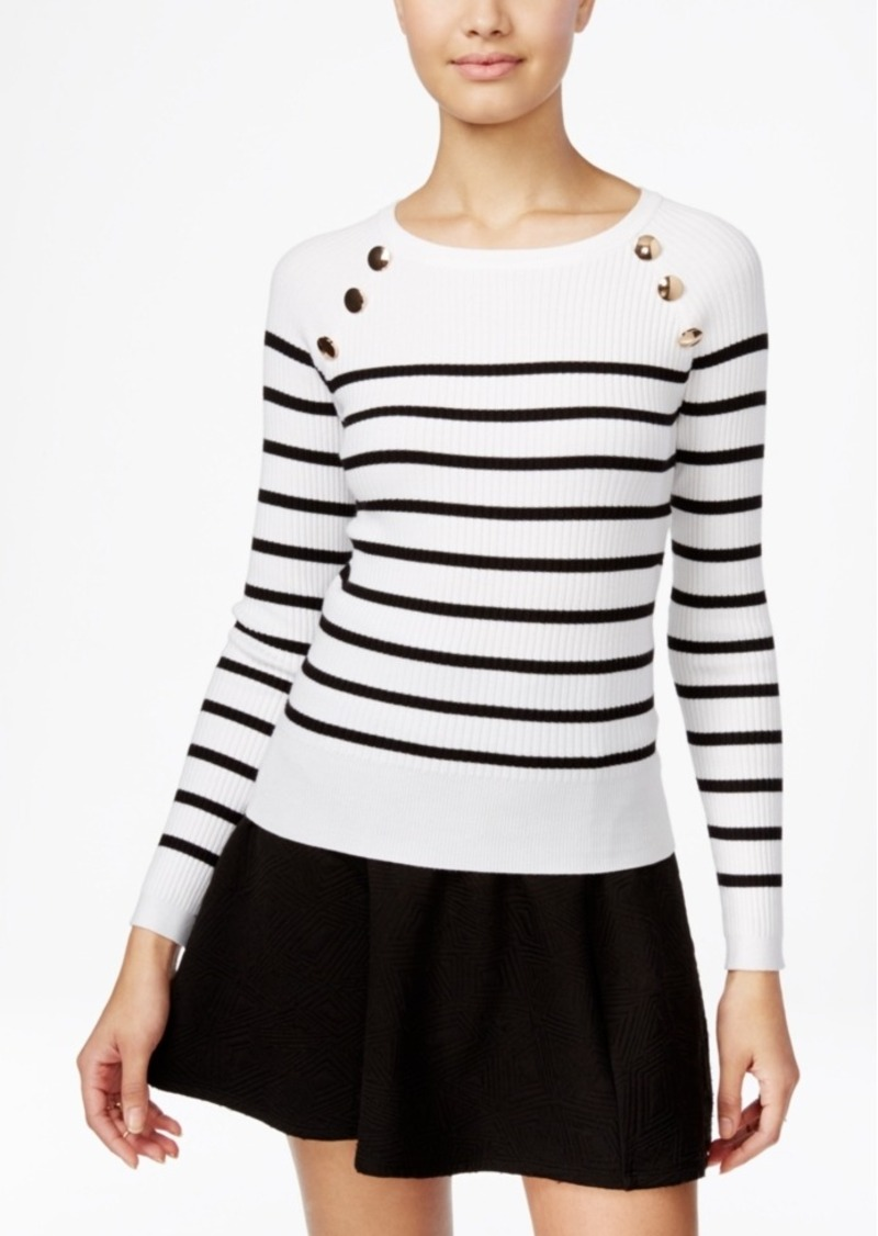 Xoxo Juniors' Embellished Striped Sweater