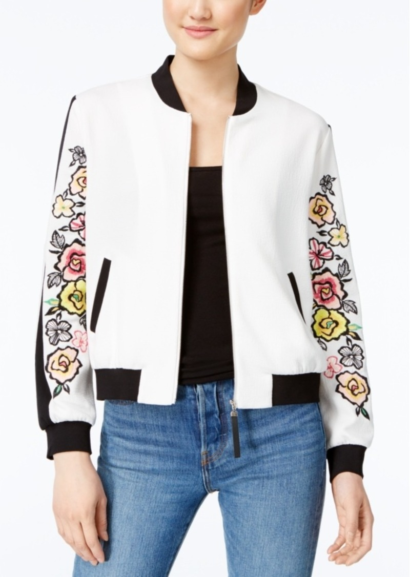 Xoxo Juniors' Embroidered Bomber Jacket