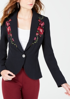 Xoxo Juniors' Embroidered Peplum Blazer