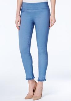 Xoxo Juniors' Fringe-Hem Skinny Ankle Pants