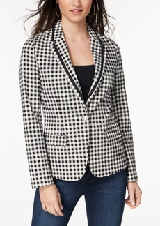 Xoxo Juniors' Gingham-Print Blazer