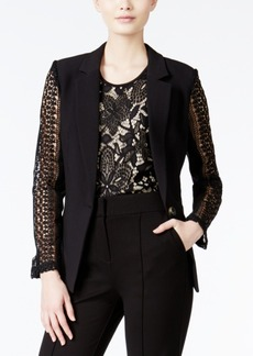Xoxo Juniors' Lace-Detailed Blazer