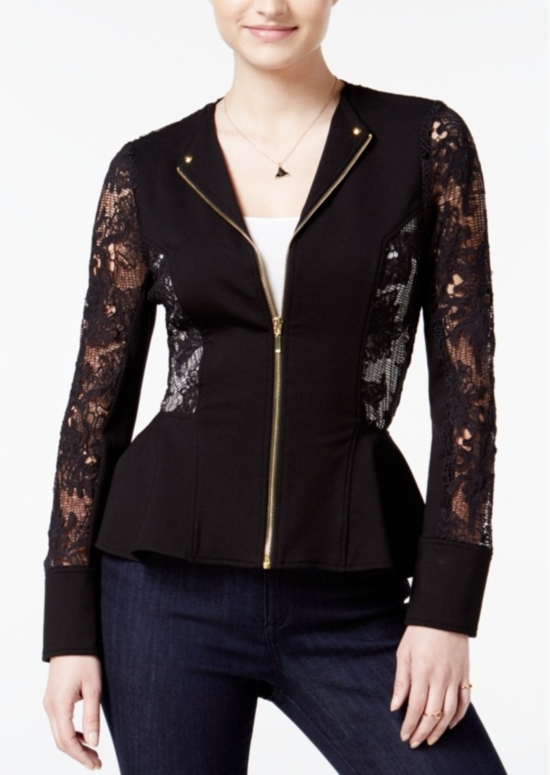 Xoxo Juniors' Lace Peplum Jacket