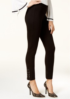 Xoxo Juniors' Lace-Up Skinny Ankle Pants