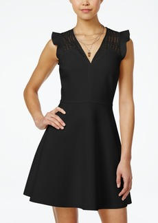Xoxo Juniors' Lace-Yoke Fit & Flare Dress