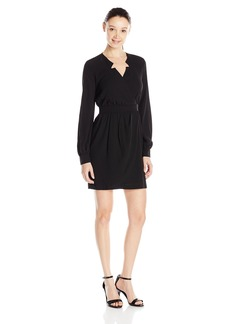 XOXO Junior's Long Sleeve Dress with Encased Wb and Cuffs