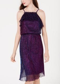 Xoxo Juniors' Metallic Crinkle Halter Dress