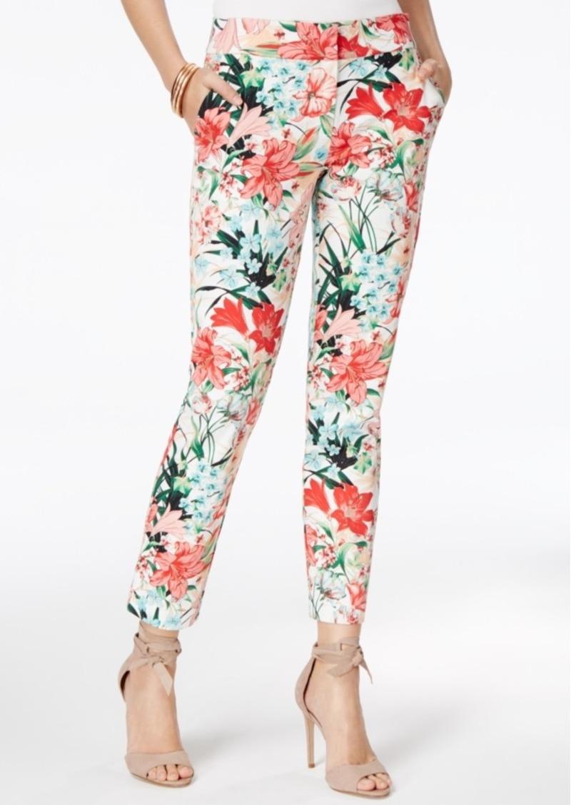 59f5aa5e33b5 XOXO Xoxo Juniors  Natalie Tropical Print Ankle Pants