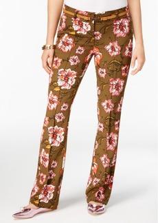 Xoxo Juniors' Natalie Printed Flare-Leg Trousers