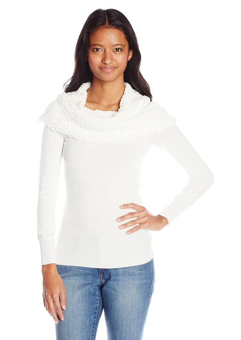 Xoxo Xoxo Juniors Off The Shoulder Popcorn Pullover Sweater Sweaters