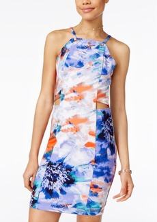 Xoxo Juniors' Printed Cutout Bodycon Dress