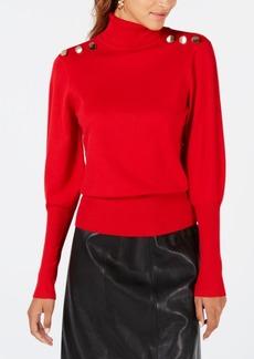 Xoxo Juniors' Puffed Button-Embellished Sweater