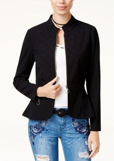 Xoxo Juniors' Quilted Peplum Jacket