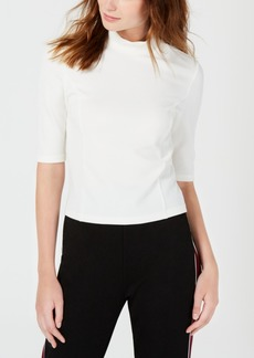 Xoxo Juniors' Rib-Knit Mock-Neck Crop Top
