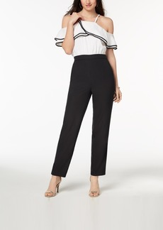 Xoxo Juniors' Ruffled Cold-Shoulder Jumpsuit