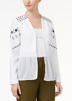 Xoxo Juniors' Sequin Chiffon-Peplum Jacket