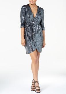 Xoxo Juniors' Sequined Wrap Dress