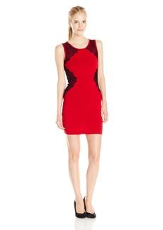 XOXO Junior's Sleeveless Lace Bodycon Ottoman Dress