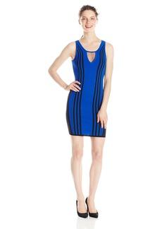 XOXO Junior's Sleeveless Sporty Striped Bodycon Dress