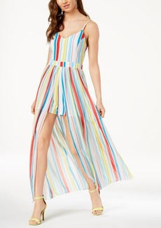 Xoxo Juniors' Striped Maxi Romper