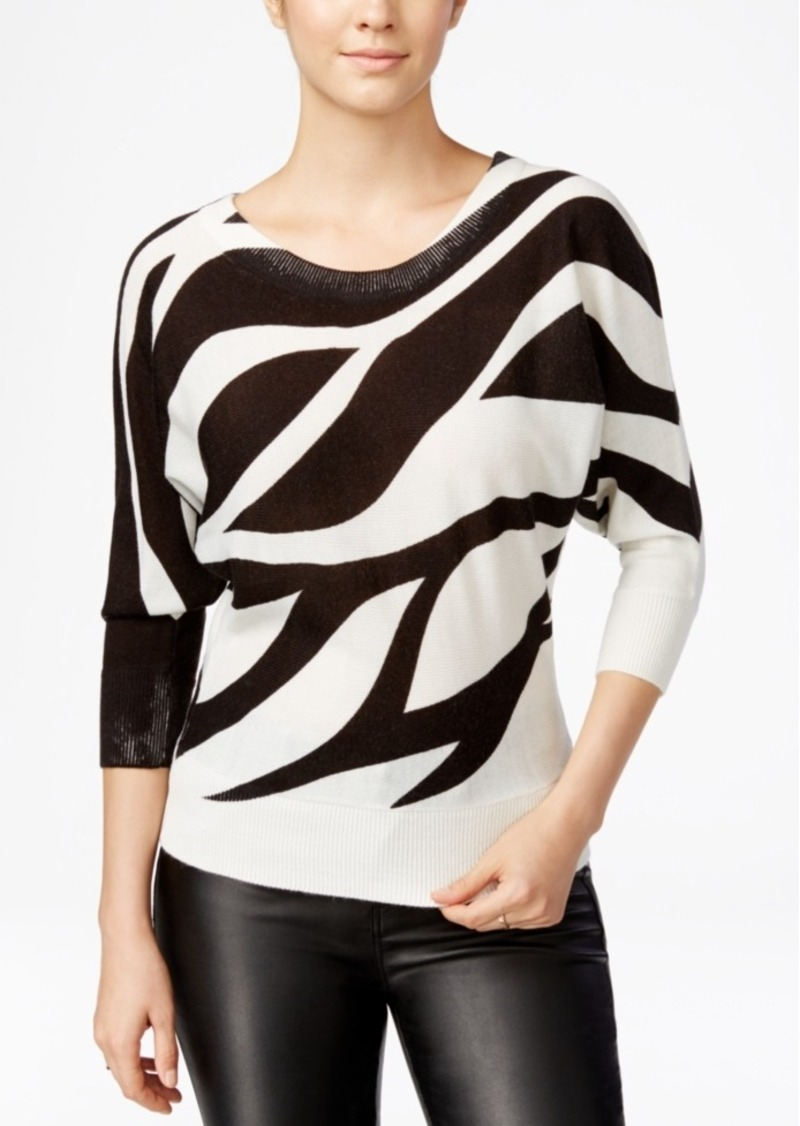 Xoxo Juniors' Zebra-Print Dolman-Sleeve Sweater