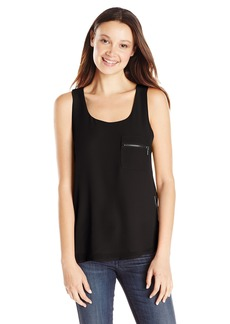 XOXO Junior's Zip-Up Side Tank Top