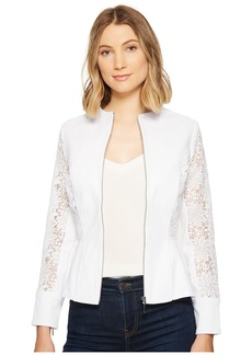 XOXO Lace Peplum Zip Jacket
