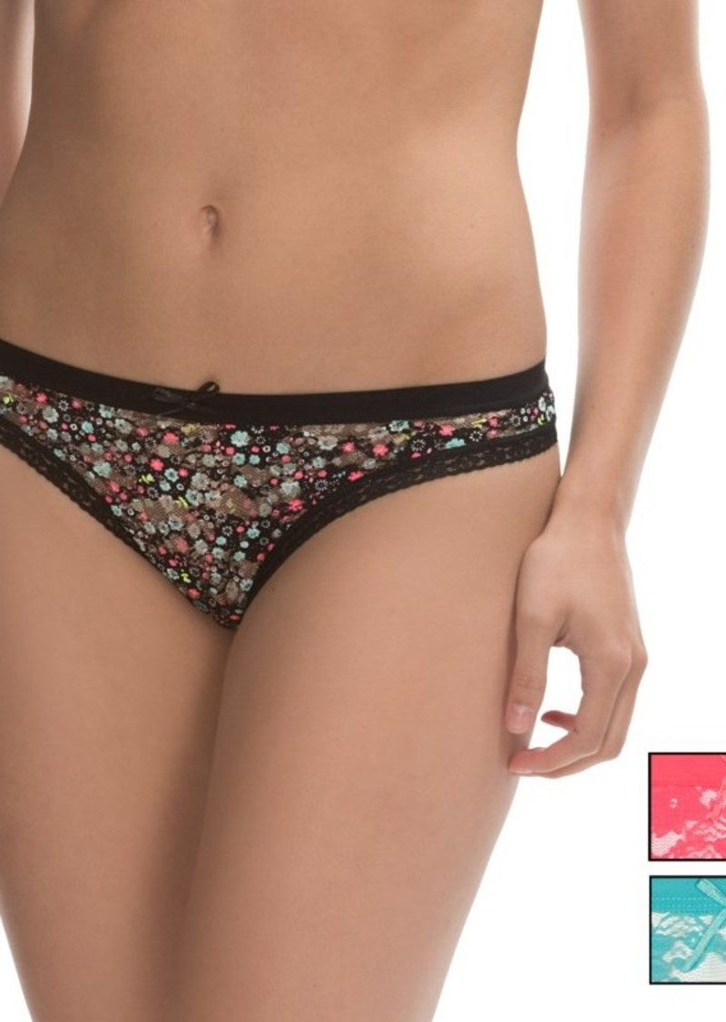 XOXO Lace Print Panties - Thong, 3-Pack (For Women)