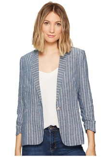 XOXO Linen Stripe Jacket