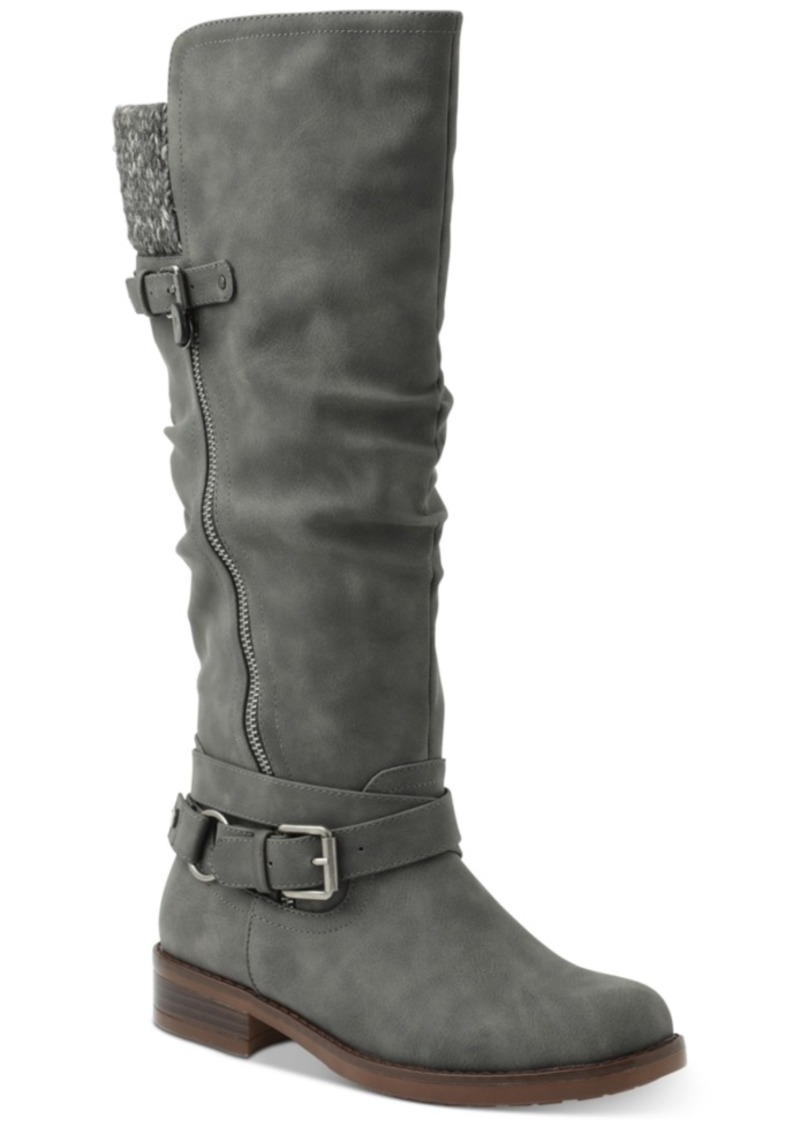 Xoxo Miles Wide Calf Tall Riding Boots Women's Shoes
