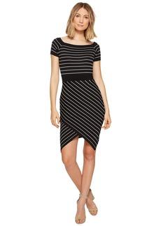 XOXO Off the Shoulder Stripe Dress