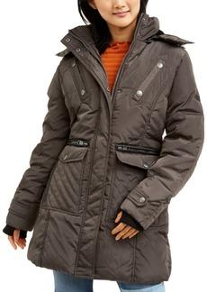 Xoxo Trendy Juniors' Faux-Fur-Trim Hooded Puffer Coat