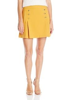 "XOXO Women's 16"" Button Front Skirt"